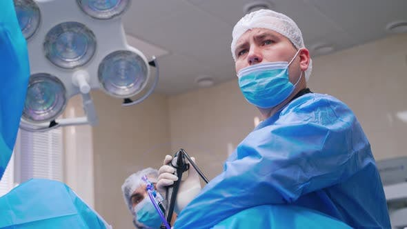 Thumbnail for Portrait of a Surgeon During Operation.