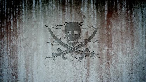 Jolly Roger in a Wall