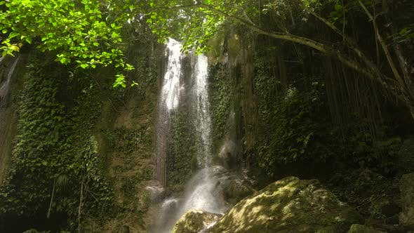 Thumbnail for Beautiful Tropical Waterfall. Philippines Bohol Island.