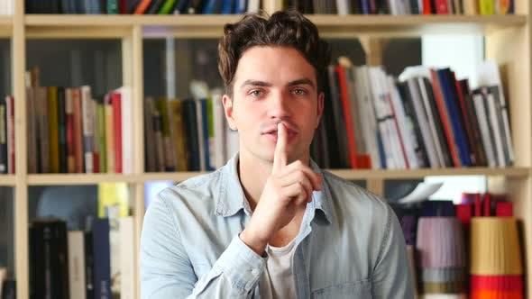 Thumbnail for Finger on Lips, Asking for Silence