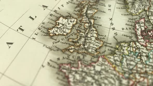 Thumbnail for Great Britain On Old Map