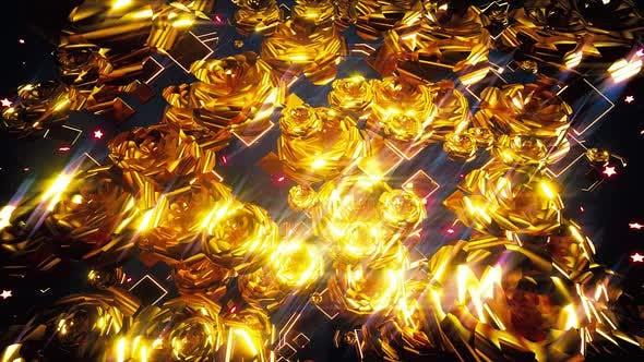 Thumbnail for Golden Flowers Background