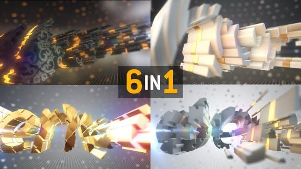 Sliced Logo Text Element 3d Reveal