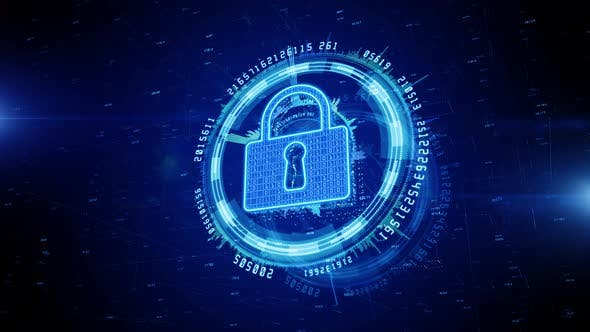 Lock Icon Cyber Security 839