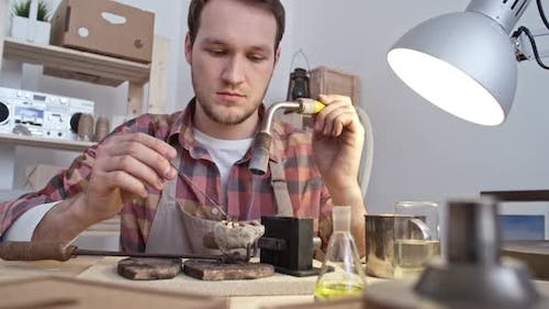 Melting Metal With Gas Torch