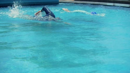 Sports Conceptswimming Crawlswimming in Poolprofessional Swimmer