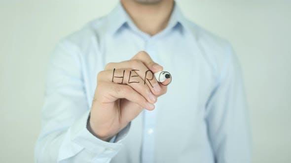 Hero, Writing On Screen