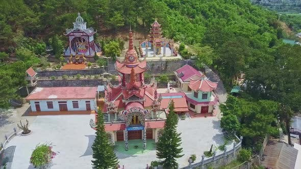 Thumbnail for Aerial View Countryside with Traditional Temple Territory