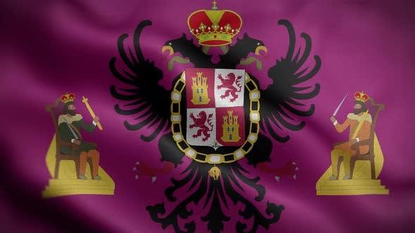 Toledo Spain Flag Loop Background 4K