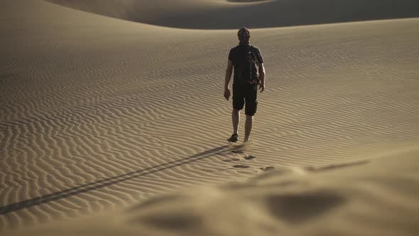 Thumbnail for Footprints Of Man Walking In Desert
