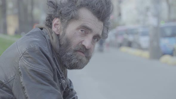 Thumbnail for Beggar Homeless Man Tramp. Poverty. Vagrancy. Kyiv. Ukraine.