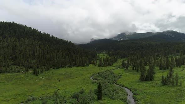 4k Landscape in Nature Park Ergaki
