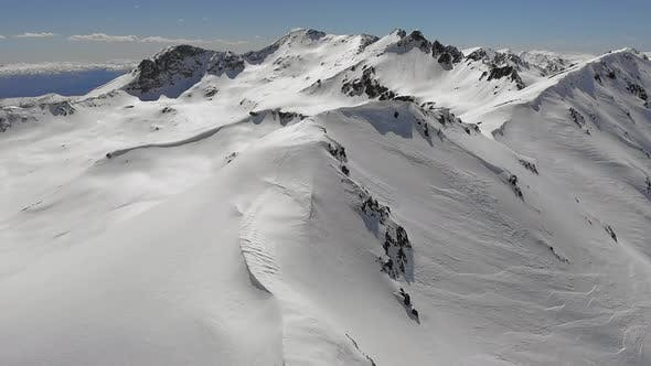 Thumbnail for Snowy Mountain Ridge Passing Side