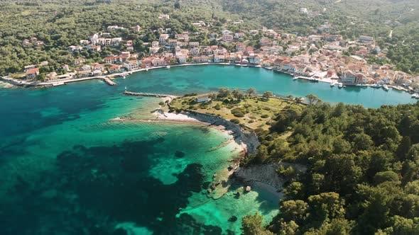 Thumbnail for Gaios, Capital City of Paxos Island, Aerial View