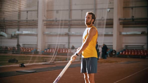 Thumbnail for Pole Vaulting - Man Is Configuring To Jump