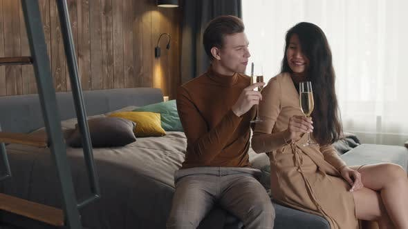 Thumbnail for Smart Couple Drinking Champagne