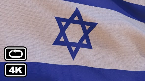 Thumbnail for Israel Flag 4K Seamless Loop