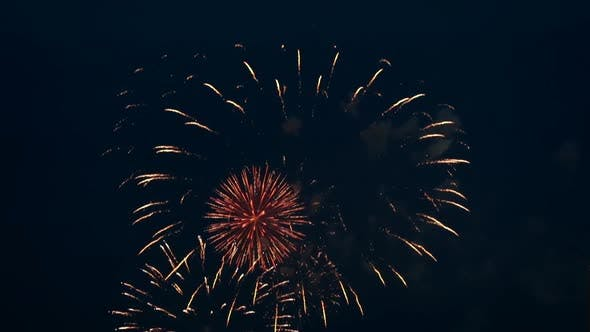 Thumbnail for Colorful Fireworks at night.