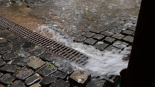 Thumbnail for Water Flows Through the Drain Trough