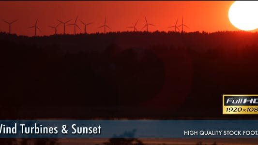 Thumbnail for Wind Turbines & Sunset