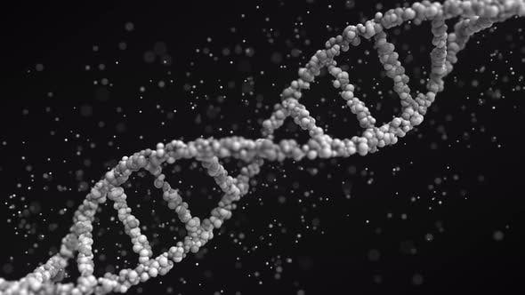 Thumbnail for Moving Grey DNA Molecule with Particles