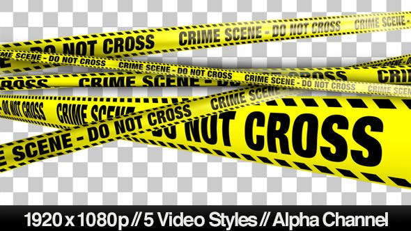 Yellow Crime Scene Do Not Cross Tape - 5 Videos