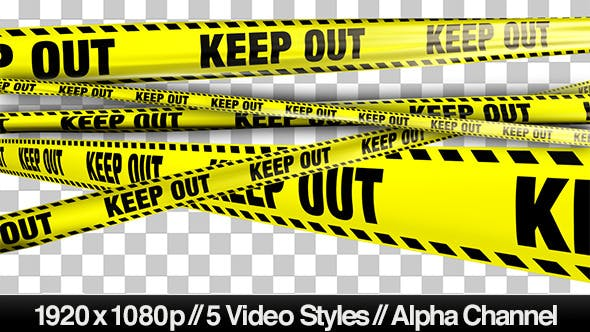 Thumbnail for Yellow Keep Out Boundary Tape -  5 Videos