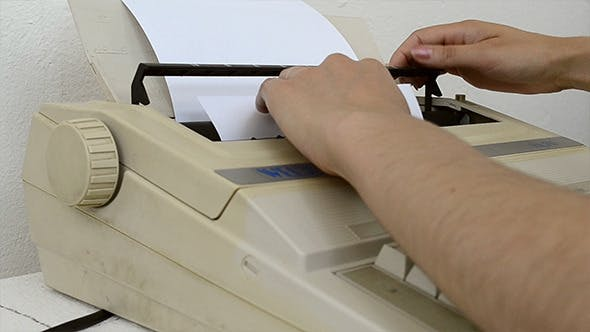 Thumbnail for Inserting A Blank Sheet to Typewriter