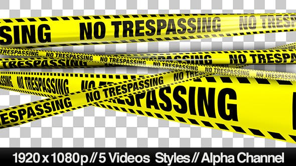 Thumbnail for Yellow No Trespassing Boundry Tape - 5 Videos