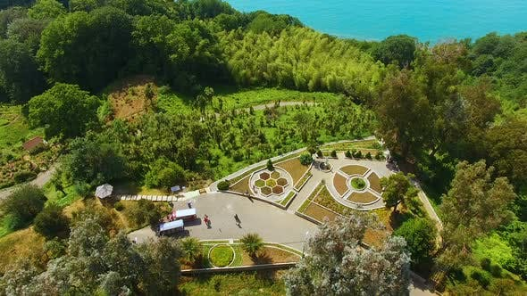 Thumbnail for Botanical garden in Batumi Georgia outstretched over hills by coast, nature