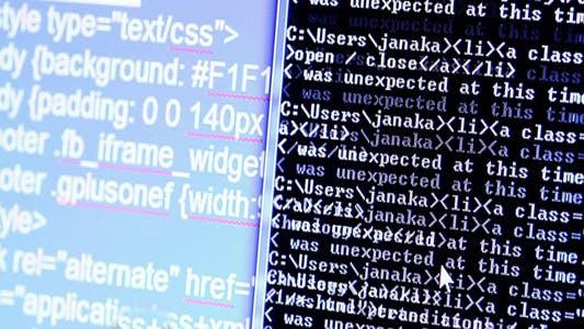 Thumbnail for Computer Screen HTML Code 7