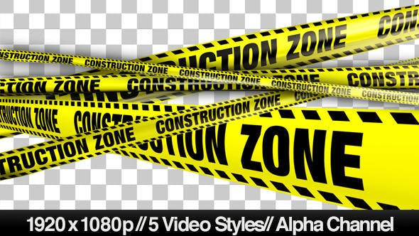 Thumbnail for Yellow Construction Zone Boundry Tape - 5 Videos