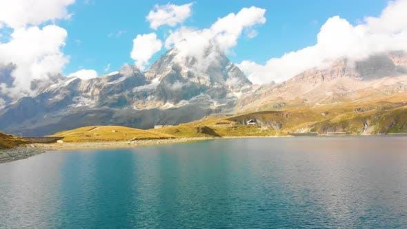 Beautiful Mountain Lake Near Matterhorn