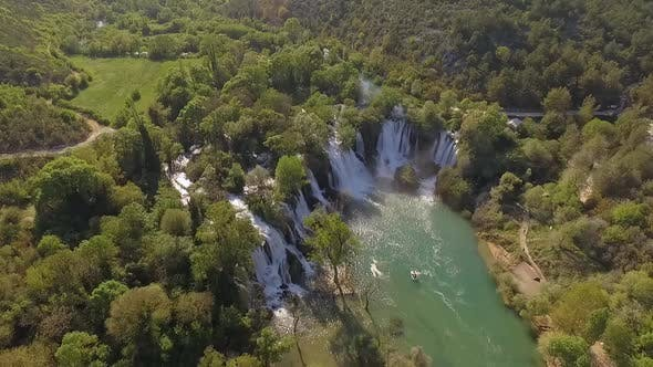 Thumbnail for Aerial Shot Of Kravica Waterfall In Bosnia And Herzegovina