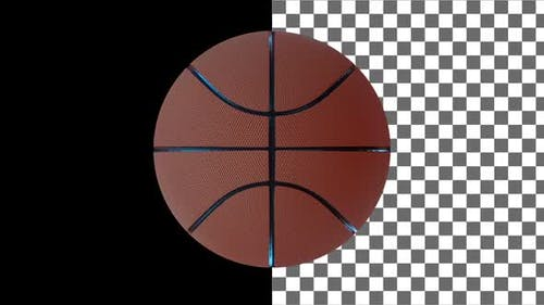 Spinning Basketball Ball. Looped Animation