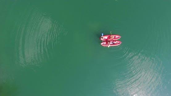 Thumbnail for Friends having fun in canoe on Mreznica river, Croatia