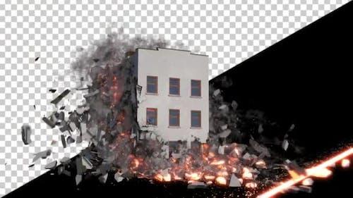 Laser Destroying a Building