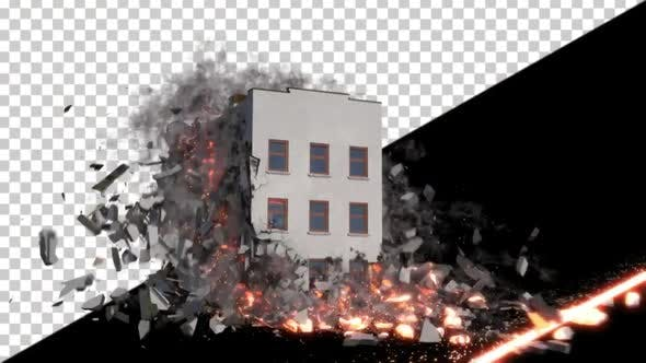 Laser Destroying a Building