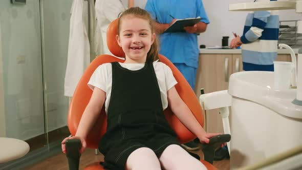 Thumbnail for Portrait of Girl Patient Looking at Camera and Laugh