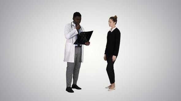 Thumbnail for Patient Comes to Doctor with X Ray Physiotherapist Explaining