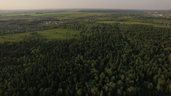 Thumbnail for Aerial Flight Above the Huge Green Forest, Russia