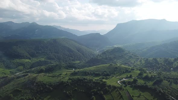 Mountain Village. Aerial Footage