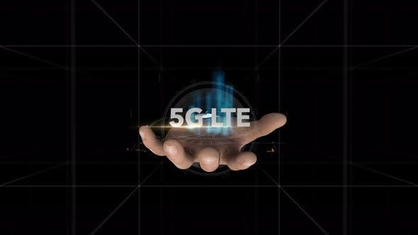 Thumbnail for Hand Reveals Hologram Word  5G LTE
