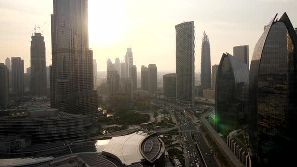 Modern City Infrastructure Business Financial District
