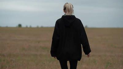 Urban Female in Black Anorak