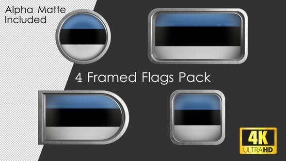 Thumbnail for Framed Estonia Flag Pack