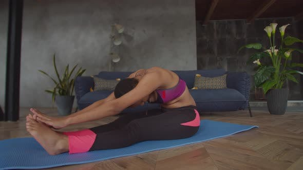 Thumbnail for Fitness Woman Strengthening Abdominal Muscles