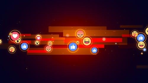 Facebook Reaction Emoji Background V8
