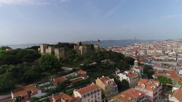 Thumbnail for Medieval Castle of S. Jorge with Lisbon in the Background