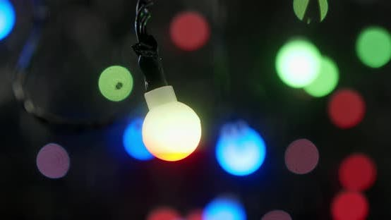 Thumbnail for The Lights of the Christmas Garland Sparkle Brightly.